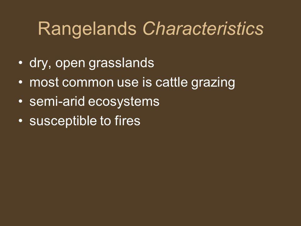 Rangelands Characteristics
