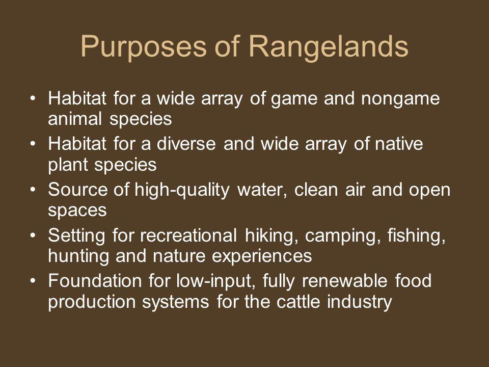 Purposes of Rangelands