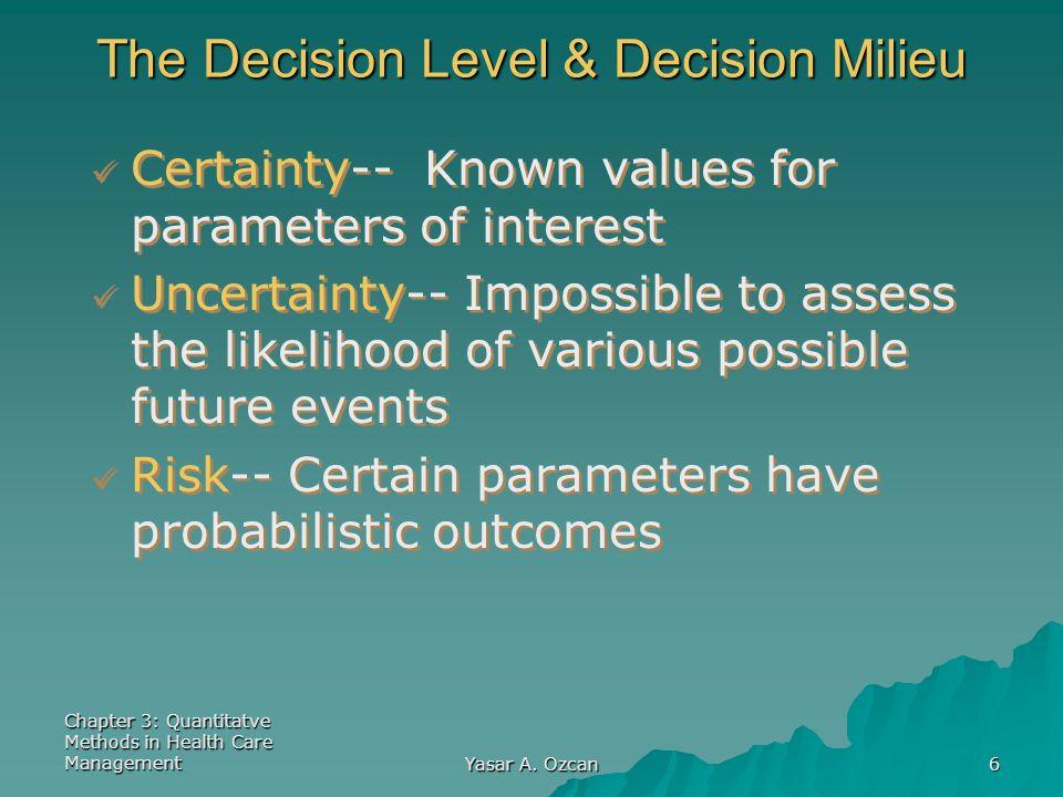 The Decision Level & Decision Milieu