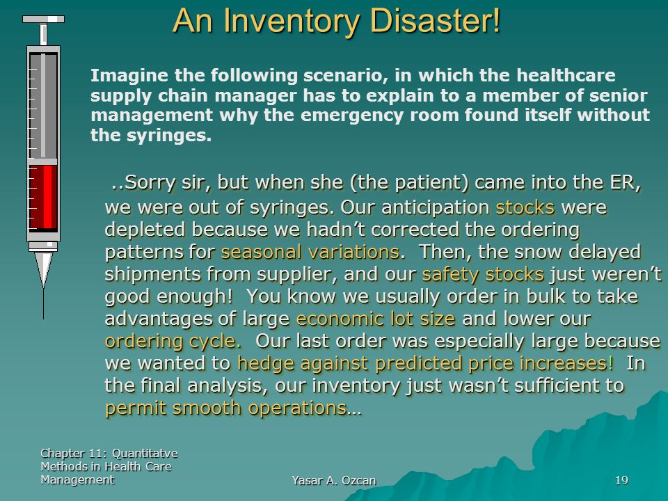 An Inventory Disaster!