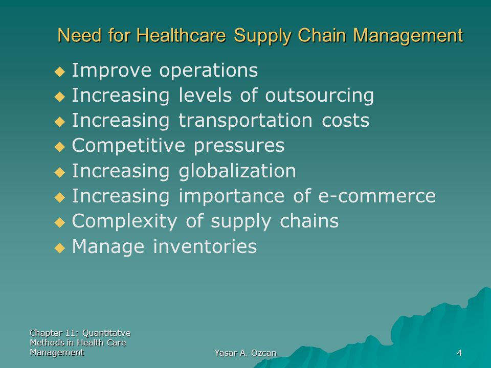 Need for Healthcare Supply Chain Management