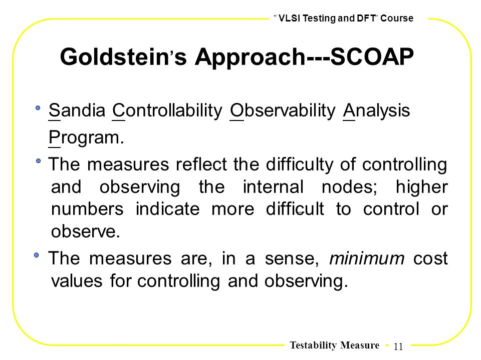Goldstein,s Approach---SCOAP