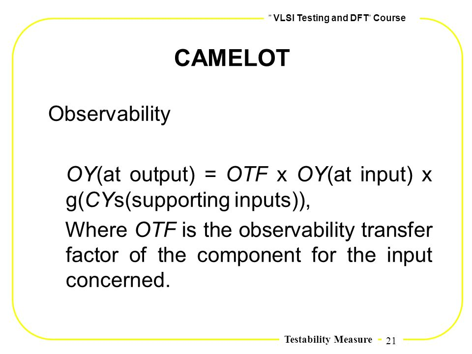 CAMELOT Observability