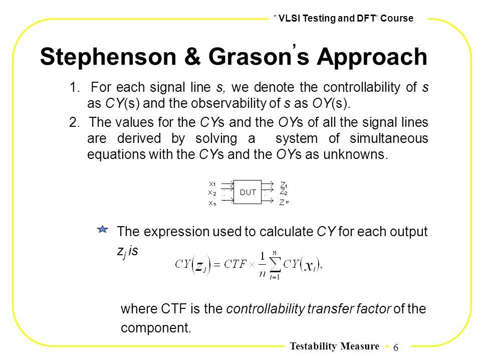 Stephenson & Grason,s Approach