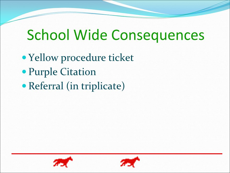 School Wide Consequences