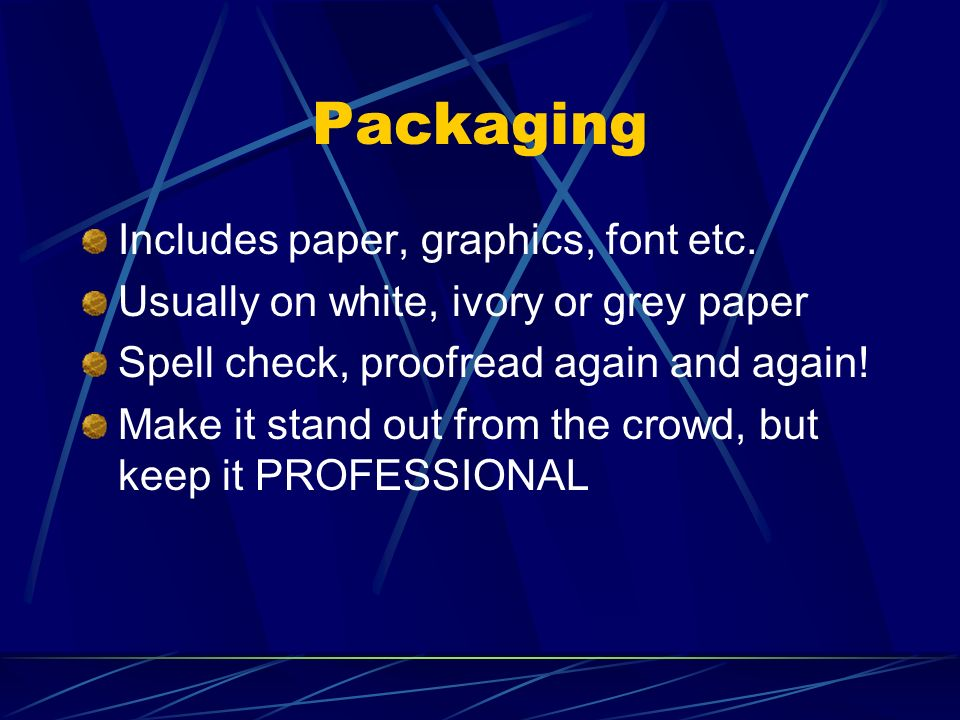 Packaging Includes paper, graphics, font etc.