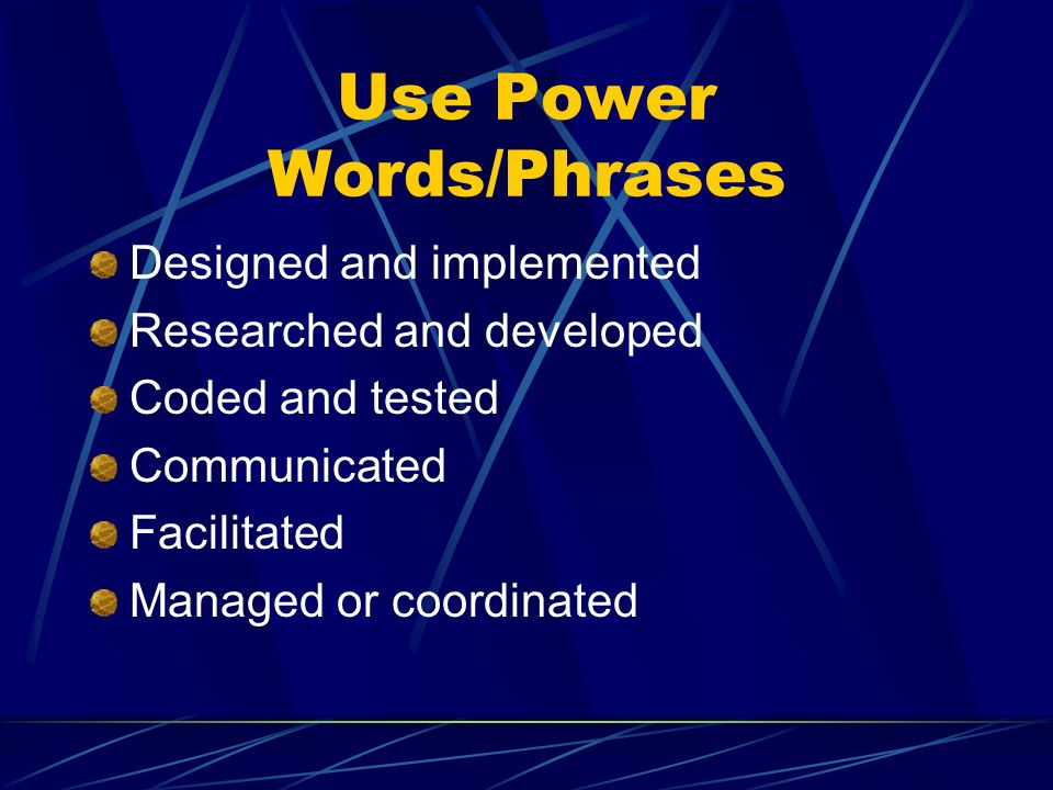 Use Power Words/Phrases