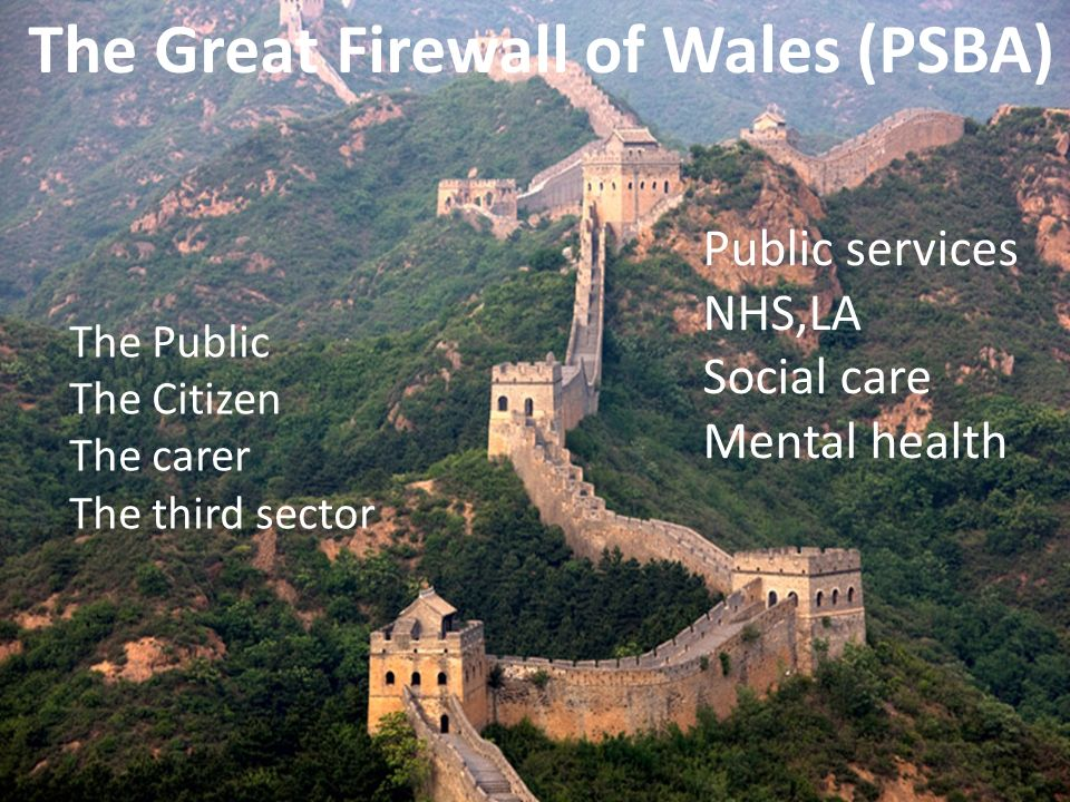 The Great Firewall of Wales (PSBA)
