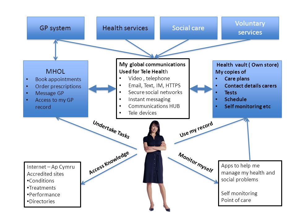 GP system Health services Social care Voluntary services MHOL