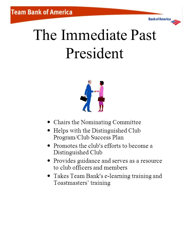 The Immediate Past President