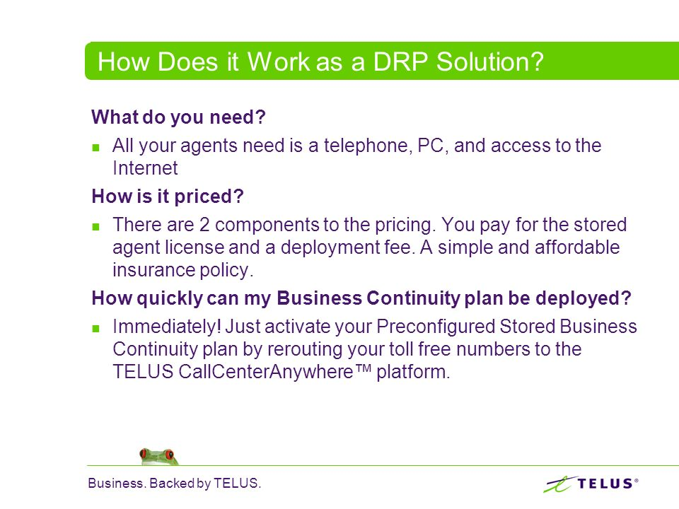 How Does it Work as a DRP Solution