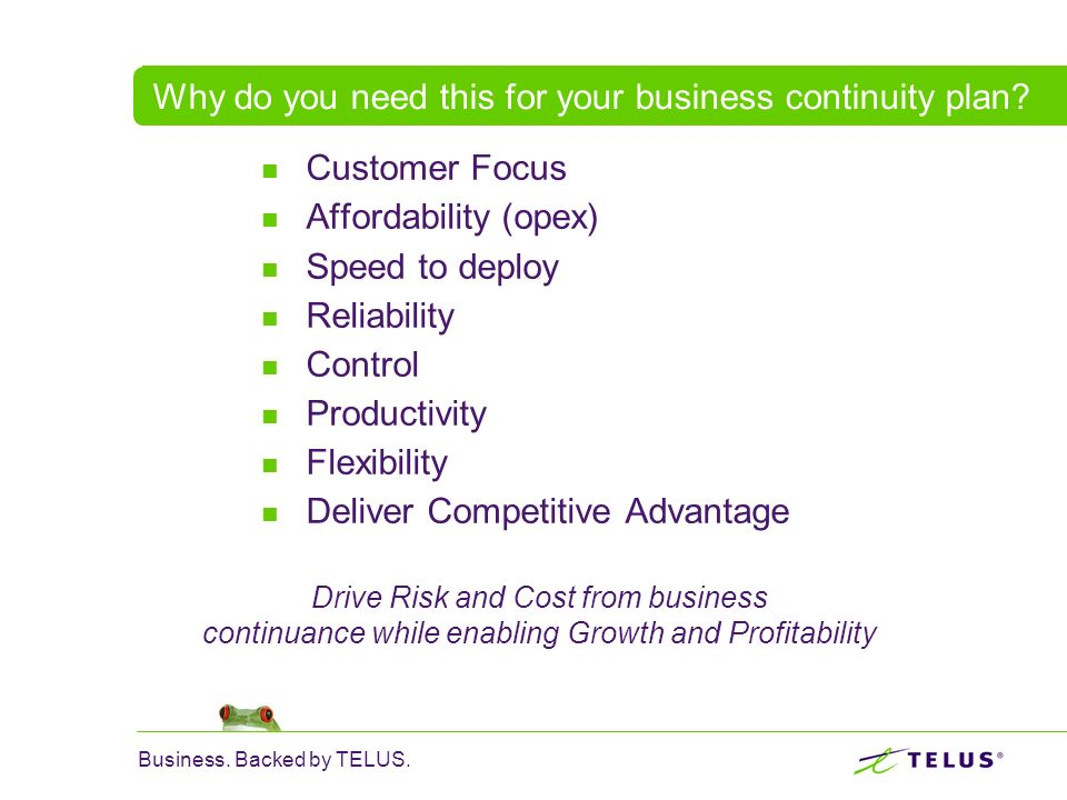 Why do you need this for your business continuity plan