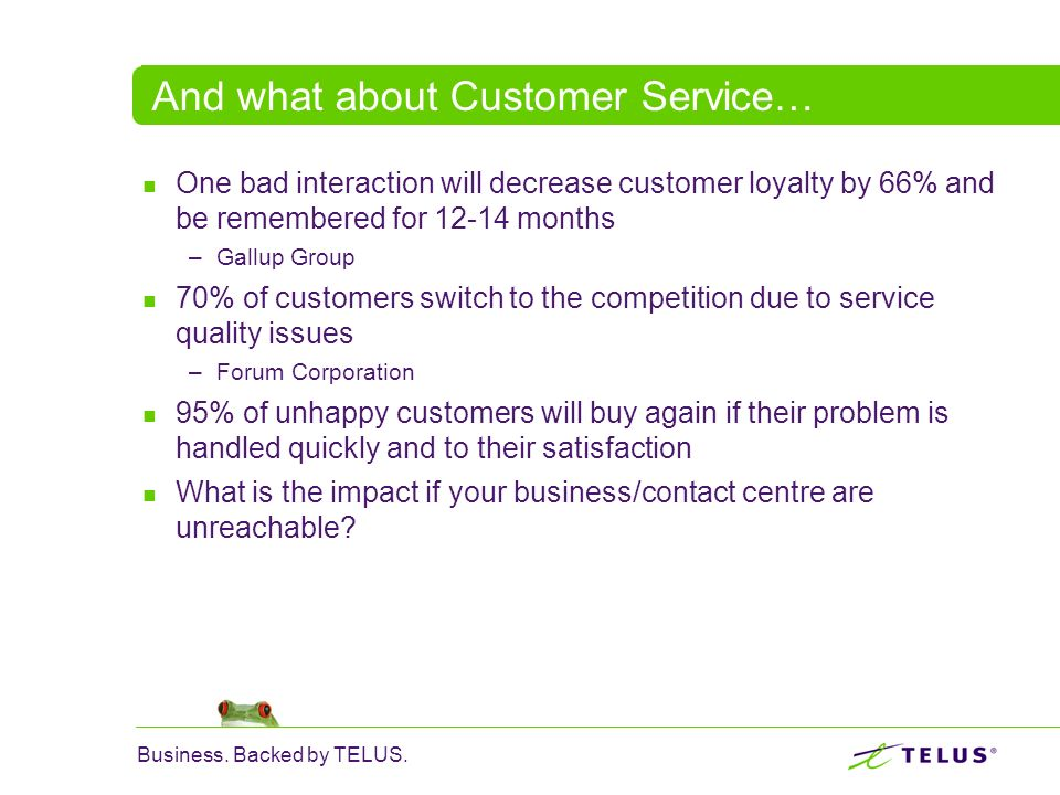 And what about Customer Service…