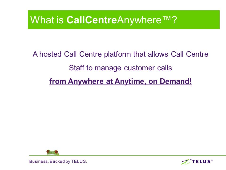 What is CallCentreAnywhere™