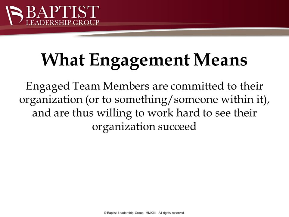 What Engagement Means