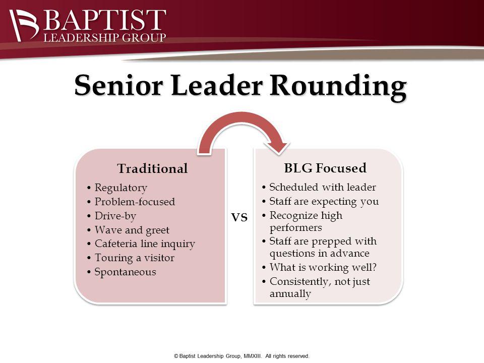 Senior Leader Rounding