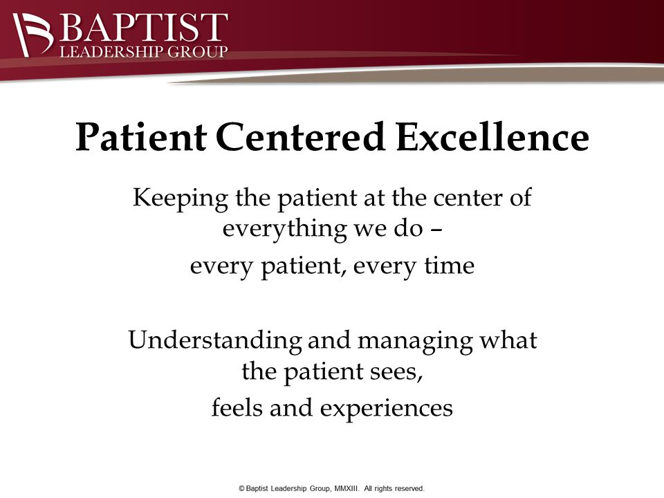 Patient Centered Excellence