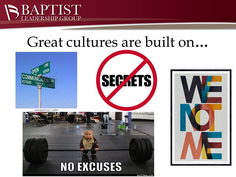 Great cultures are built on…