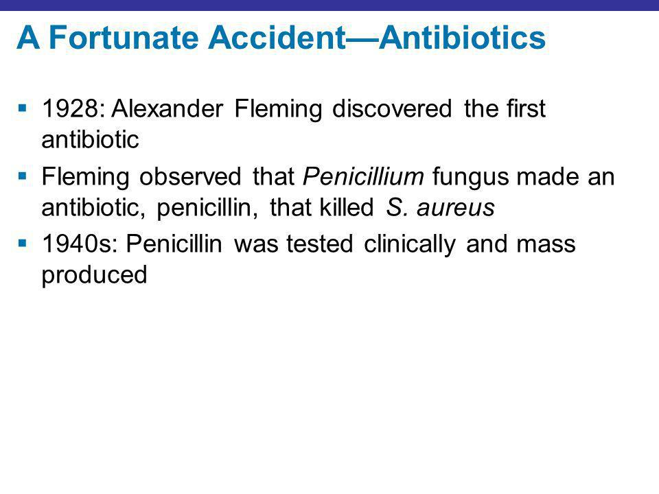 A Fortunate Accident—Antibiotics