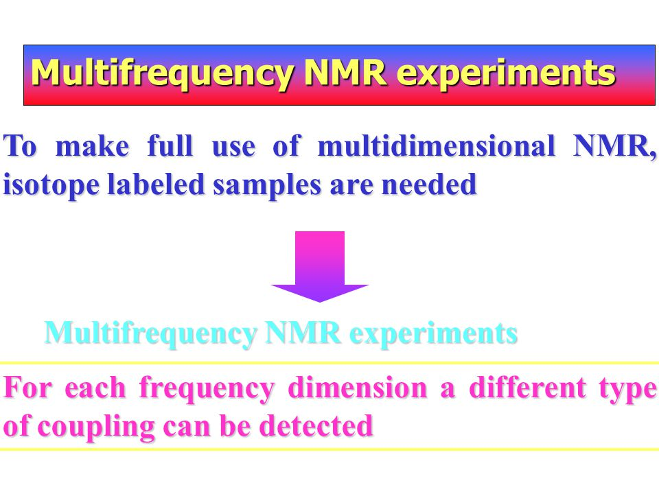 Multifrequency NMR experiments