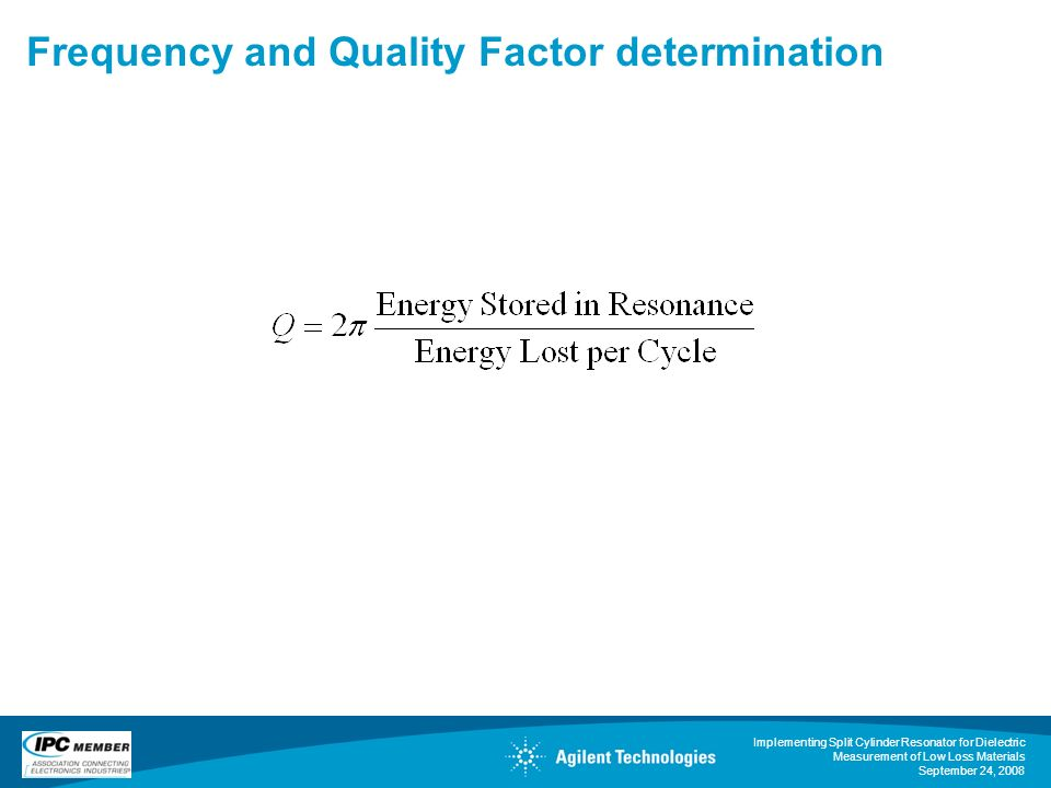 Frequency and Quality Factor determination