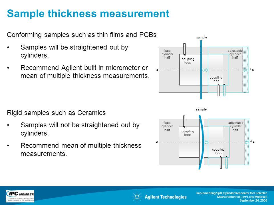 Sample thickness measurement