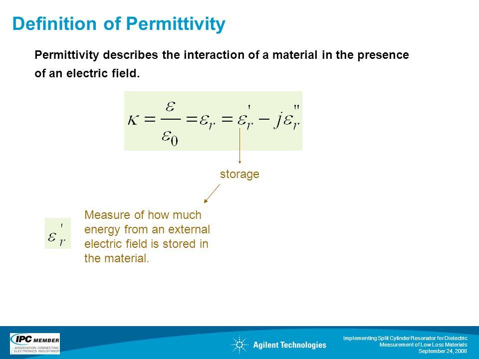 Definition of Permittivity