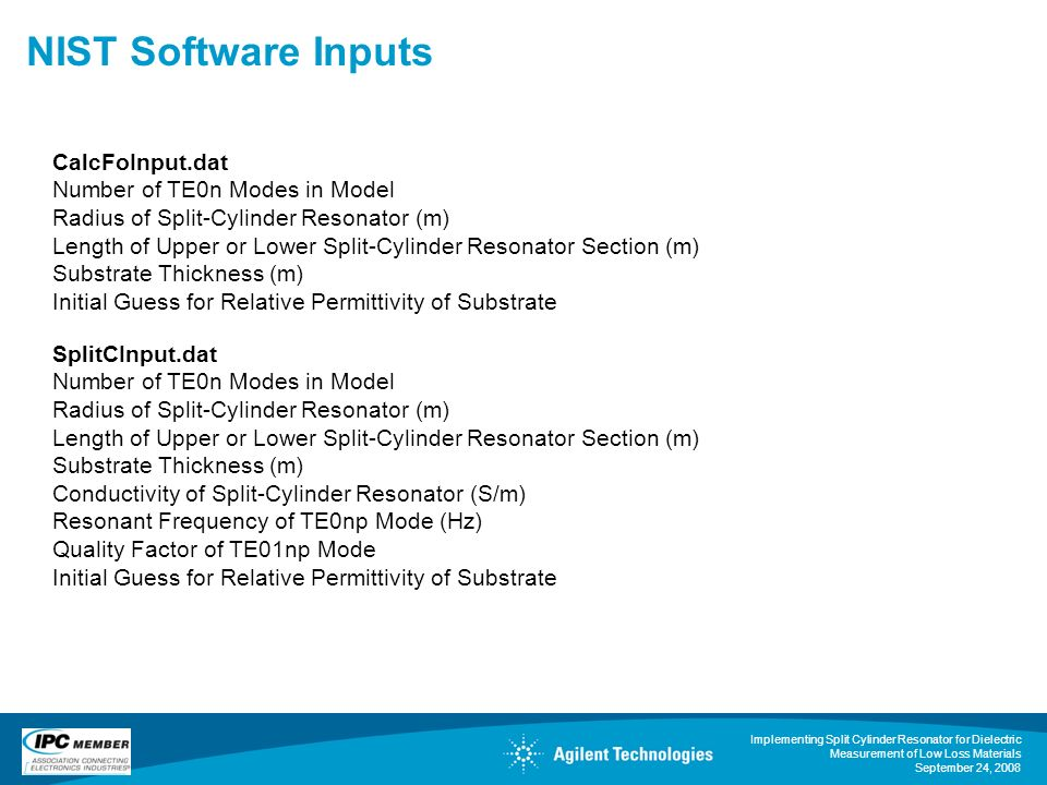 NIST Software Inputs CalcFoInput.dat Number of TE0n Modes in Model