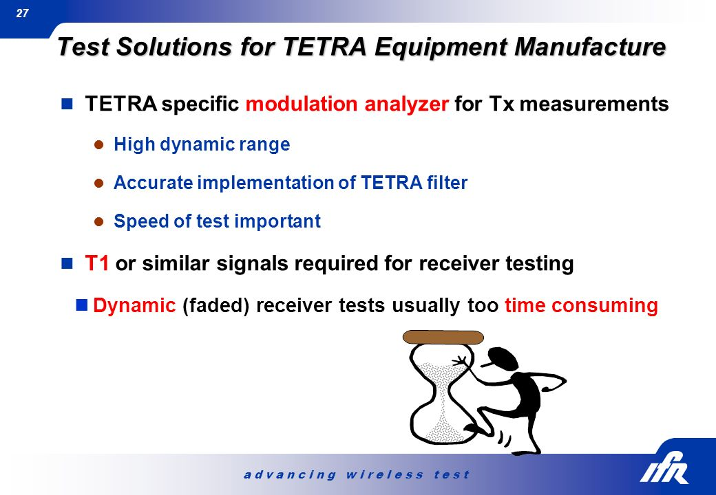 Test Solutions for TETRA Equipment Manufacture