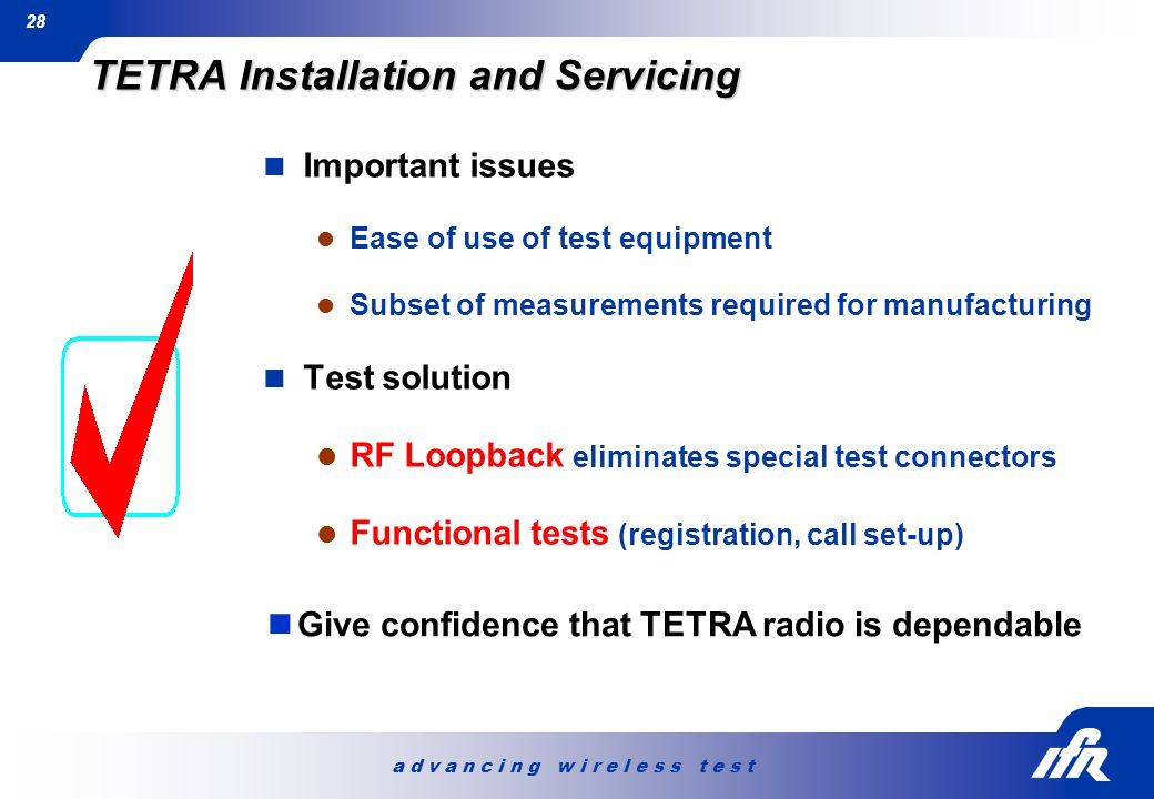 TETRA Installation and Servicing