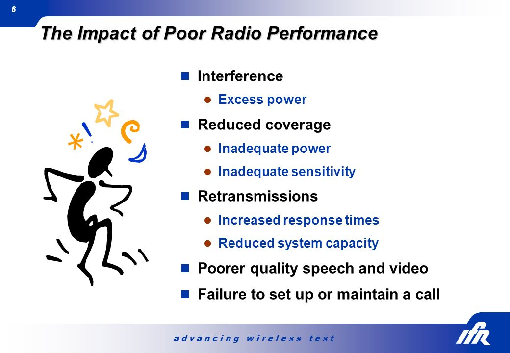The Impact of Poor Radio Performance