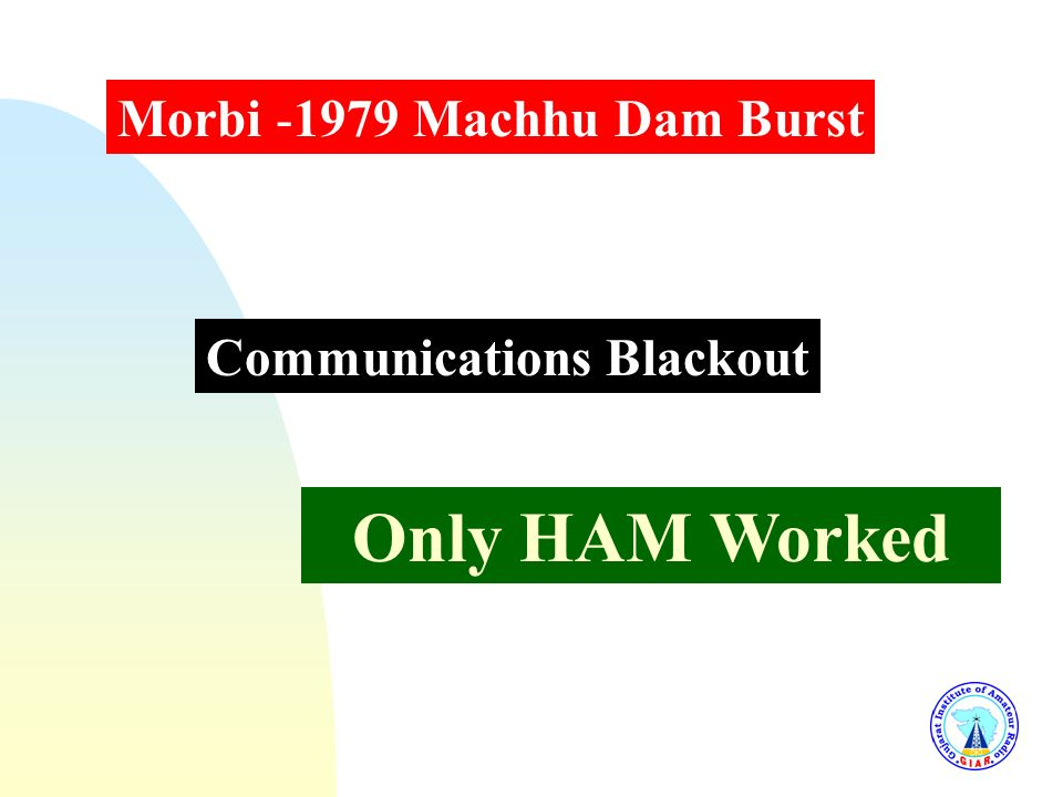 Only HAM Worked Morbi -1979 Machhu Dam Burst Communications Blackout