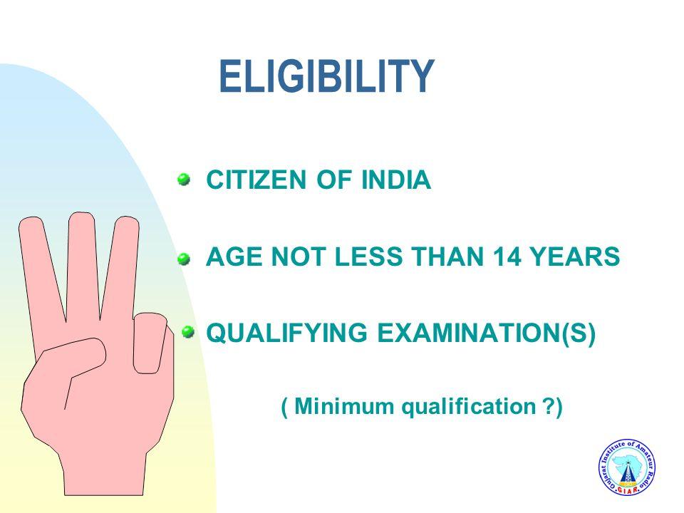 ( Minimum qualification )