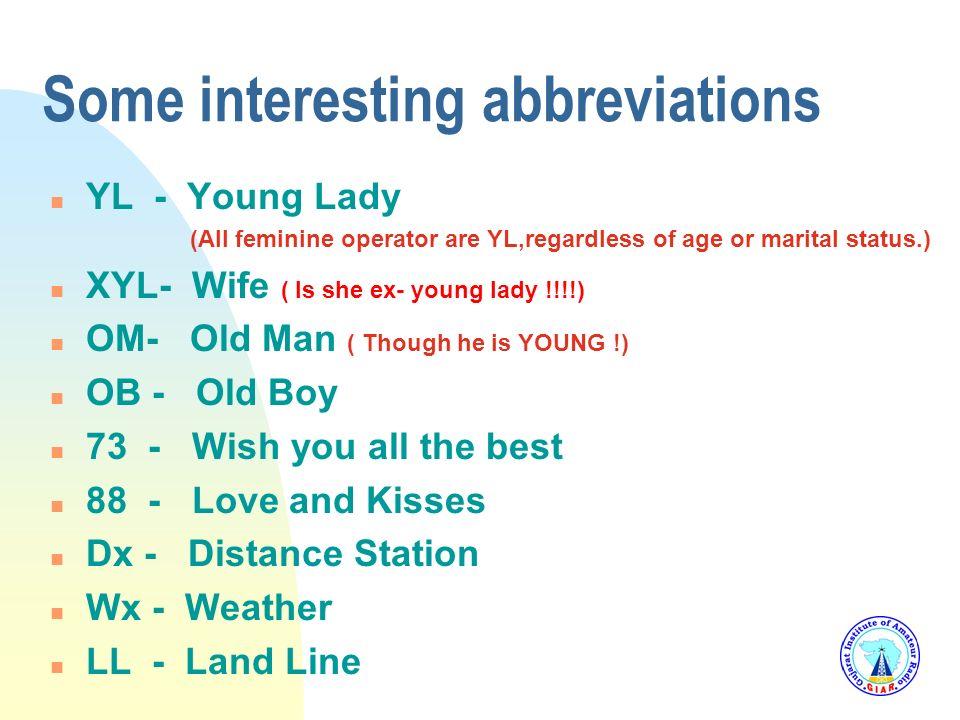 Some interesting abbreviations