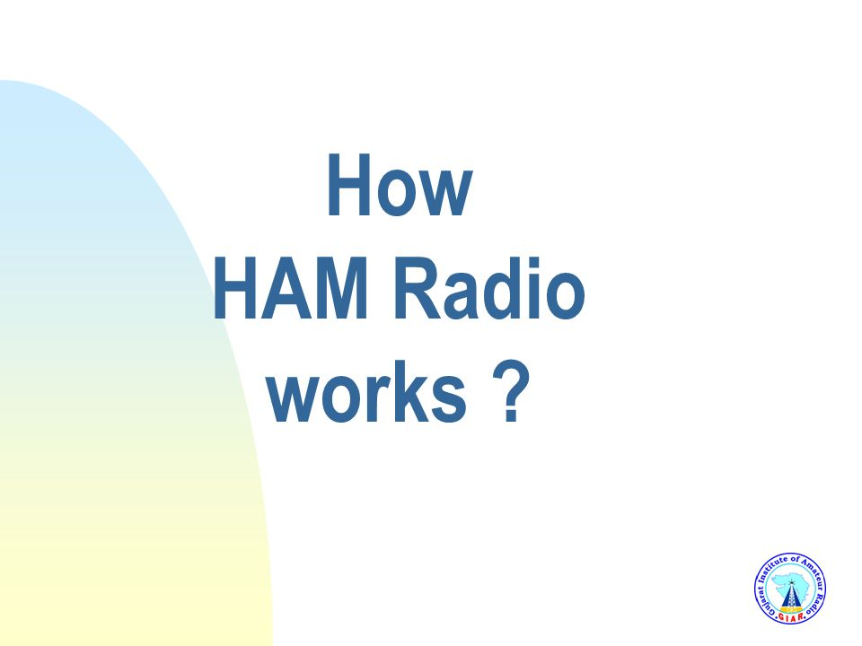 3/25/2017 How HAM Radio works
