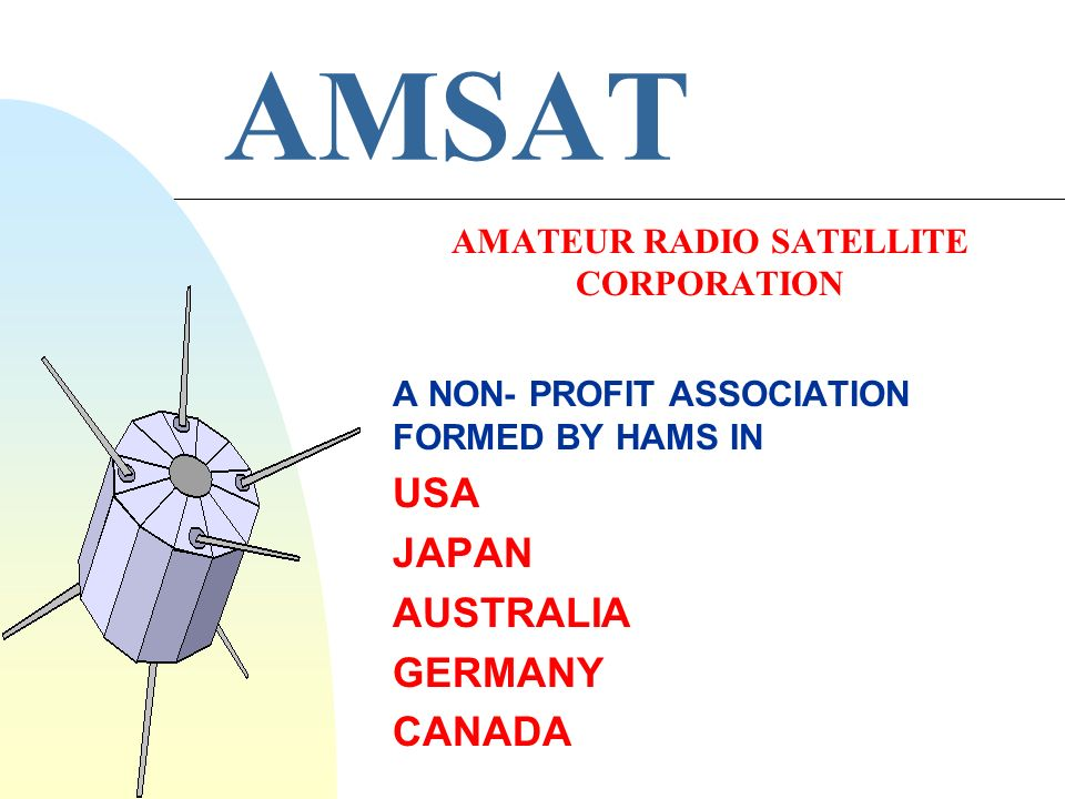AMATEUR RADIO SATELLITE CORPORATION