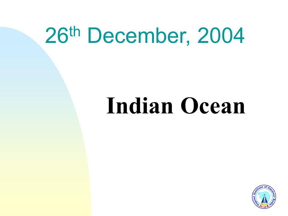 3/25/2017 26th December, 2004 Indian Ocean