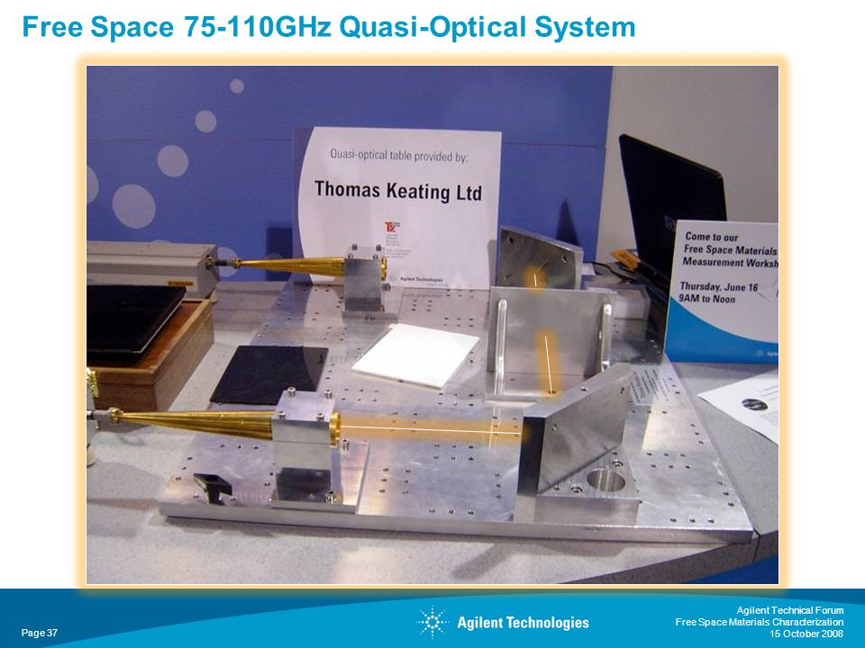 Free Space 75-110GHz Quasi-Optical System
