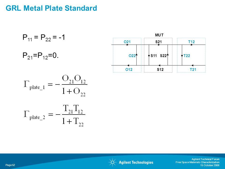 GRL Metal Plate Standard