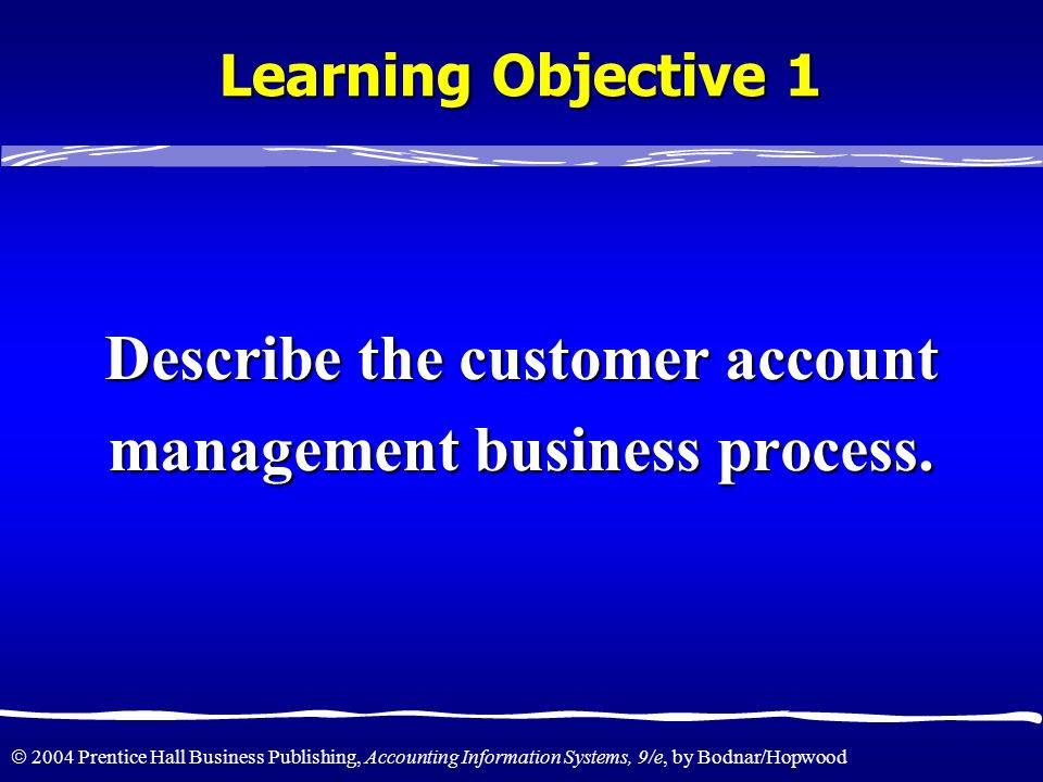 Describe the customer account management business process.