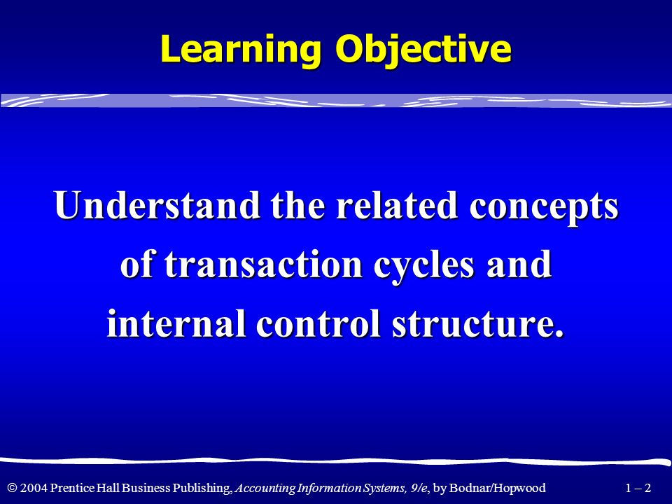 Understand the related concepts of transaction cycles and