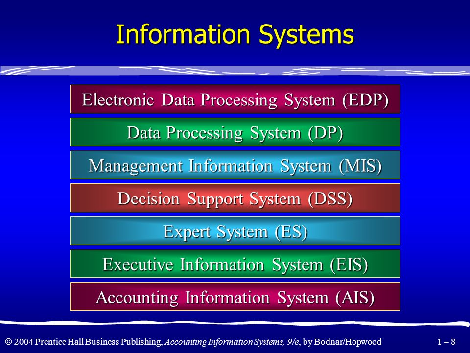 Information Systems Electronic Data Processing System (EDP)