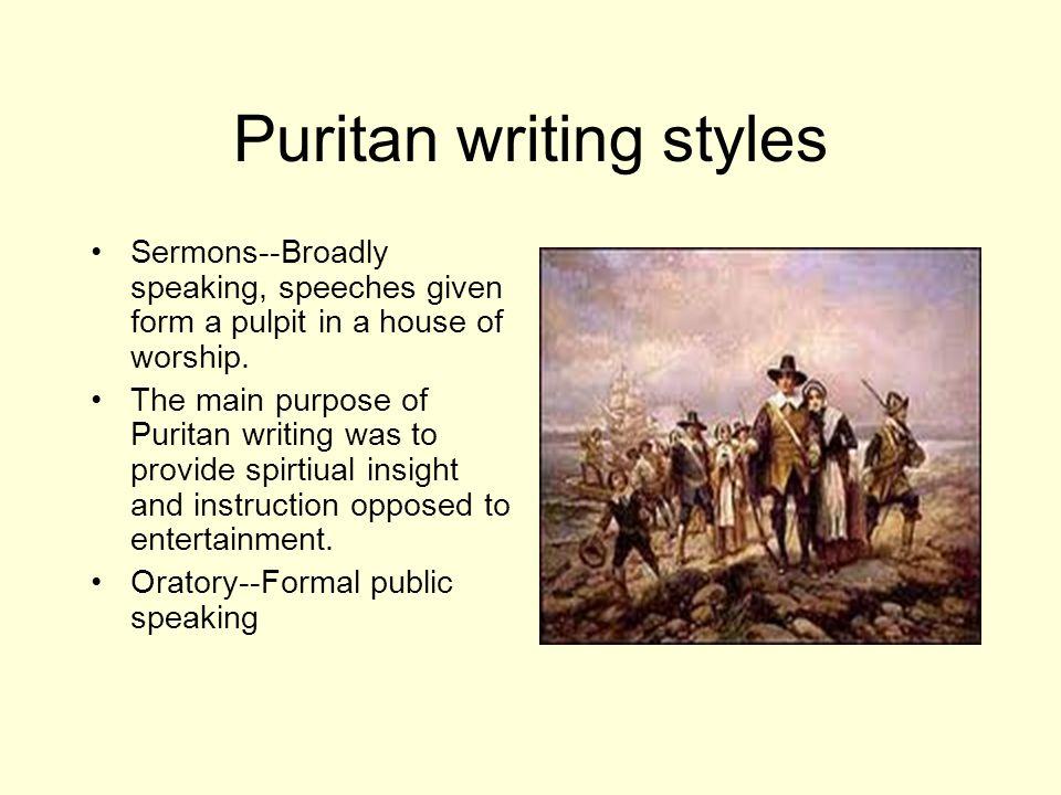 Puritan writing styles