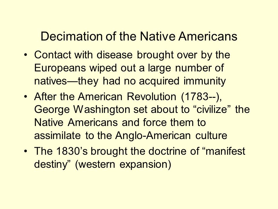Decimation of the Native Americans
