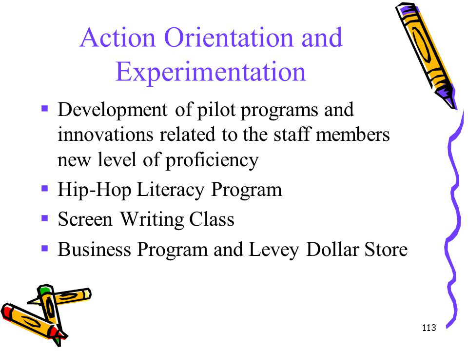 Action Orientation and Experimentation