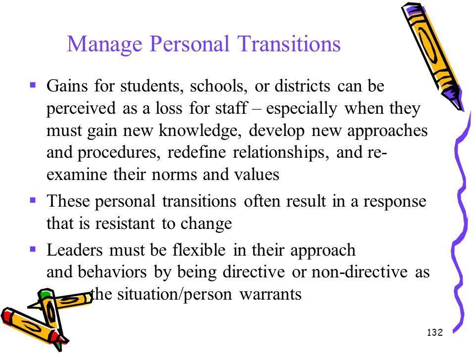 Manage Personal Transitions