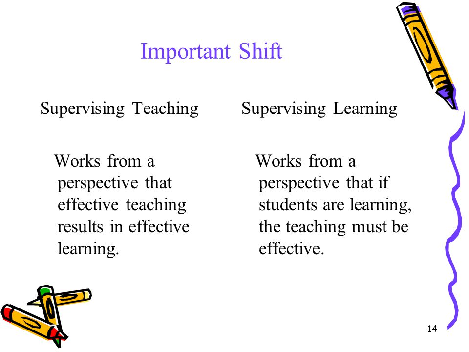Important Shift Supervising Teaching