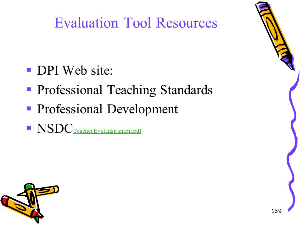 Evaluation Tool Resources
