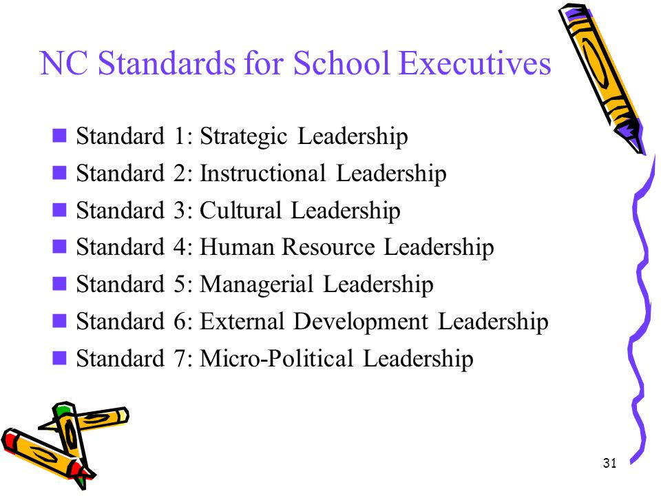 NC Standards for School Executives