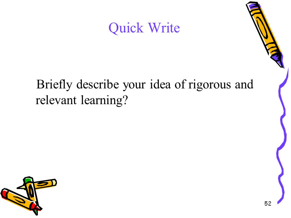 Quick Write Briefly describe your idea of rigorous and relevant learning Thinking Map as a tool